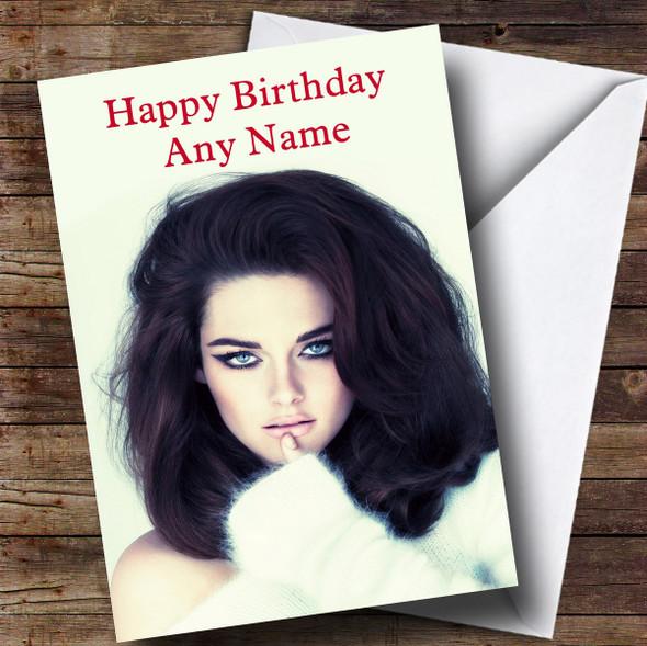 Personalised Kristen Stewart Celebrity Birthday Card
