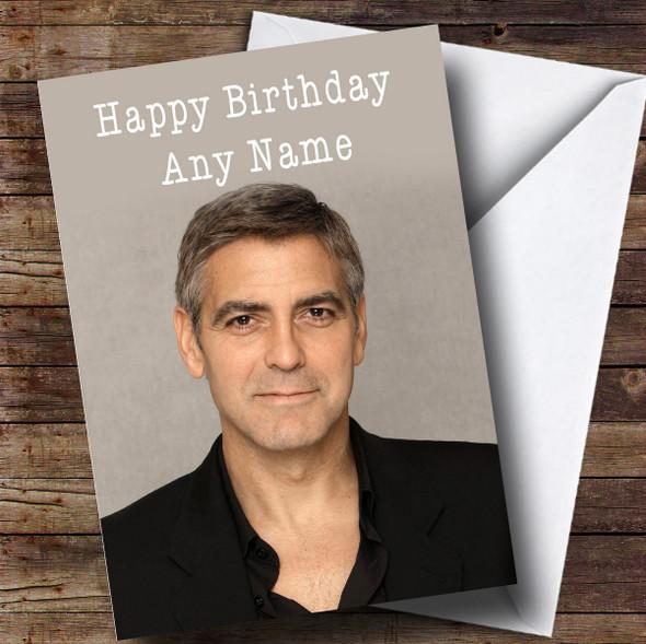 Personalised George Clooney Celebrity Birthday Card