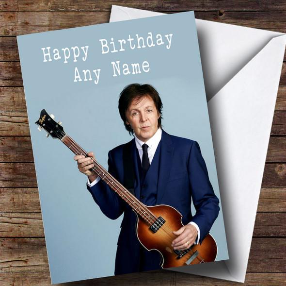 Personalised Paul McCartney Celebrity Birthday Card