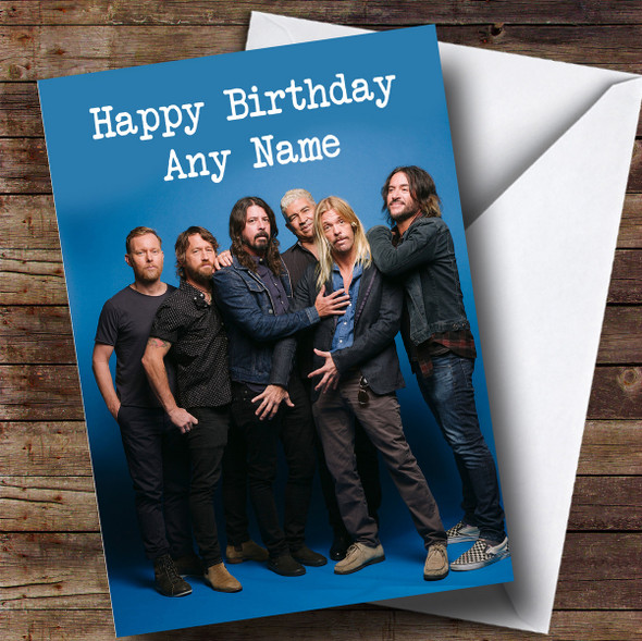 Personalised Foo Fighters Celebrity Birthday Card