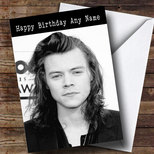 Personalised Harry Styles Celebrity Birthday Card