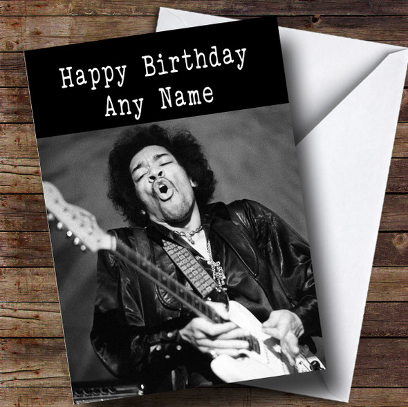 Personalised Jimi Hendrix Celebrity Birthday Card