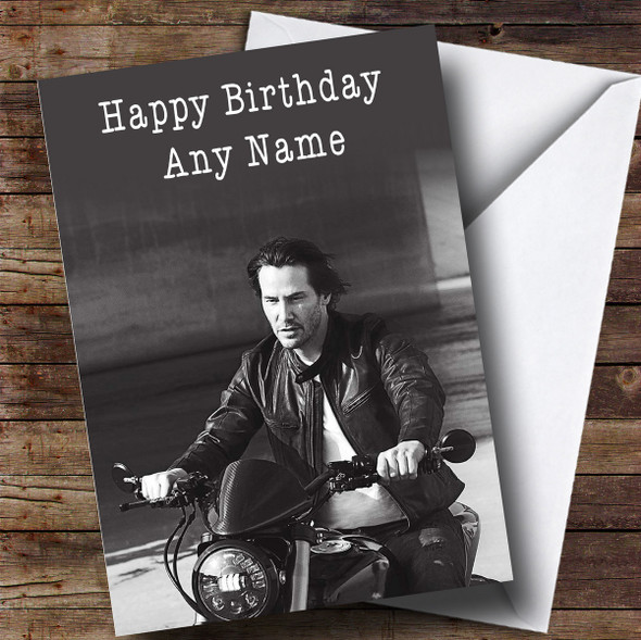 Personalised Keanu Reeves Celebrity Birthday Card