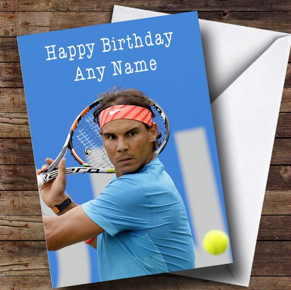 Personalised Rafael Nadal Celebrity Birthday Card