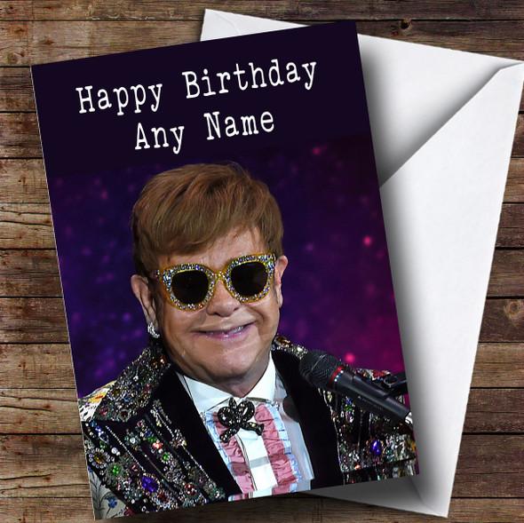 Personalised Elton John Celebrity Birthday Card