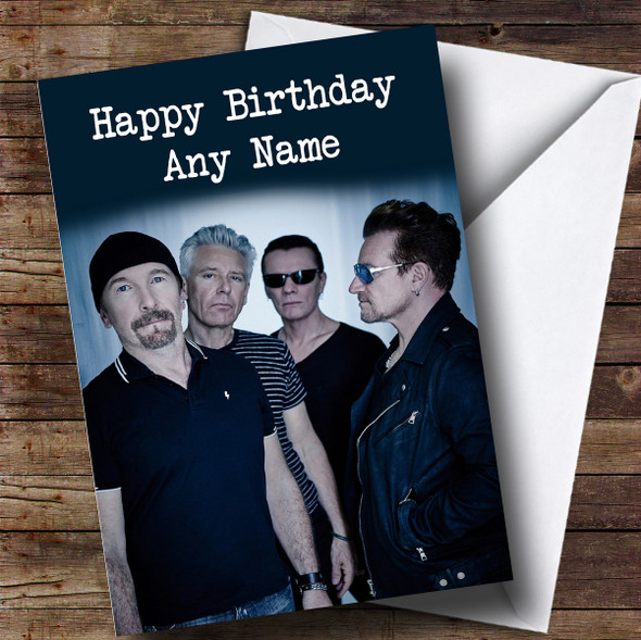 Personalised U2 Celebrity Birthday Card