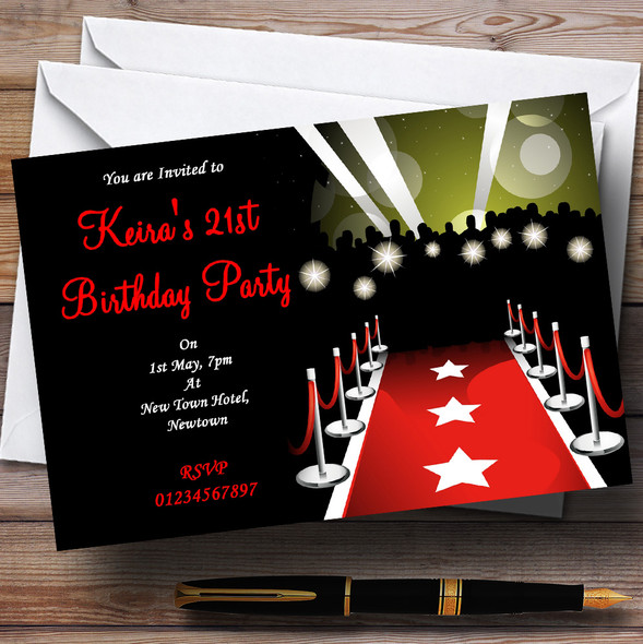 Vip Red Carpet Personalised Party Invitations
