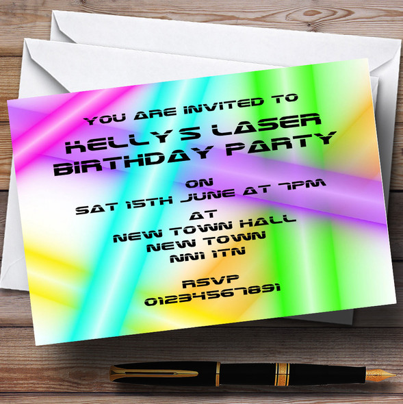 Laser Tag Personalised Party Invitations