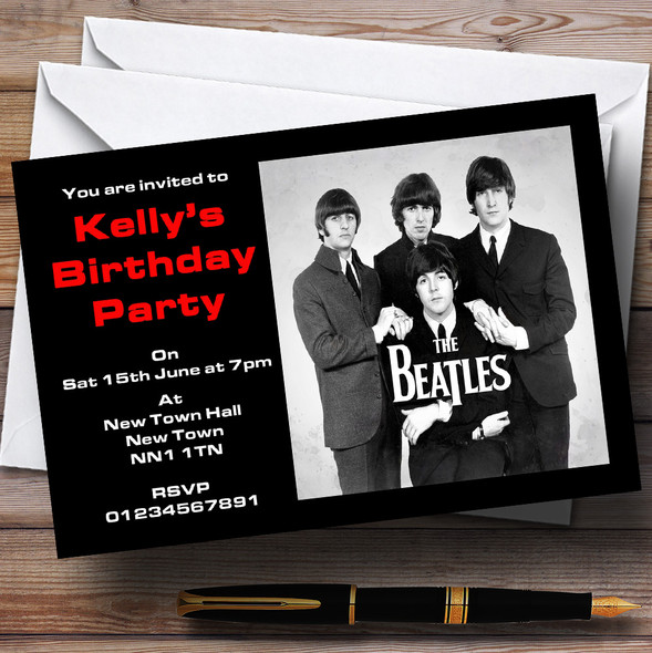 The Beatles Personalised Party Invitations