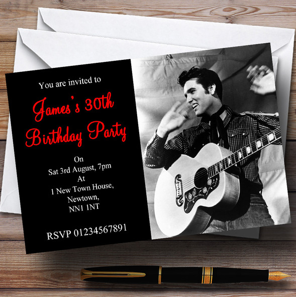 Elvis Presley Personalised Party Invitations
