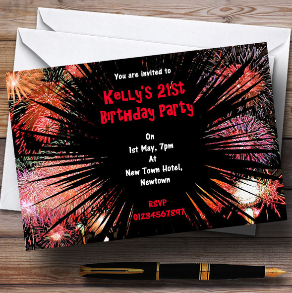 Fireworks Personalised Party Invitations