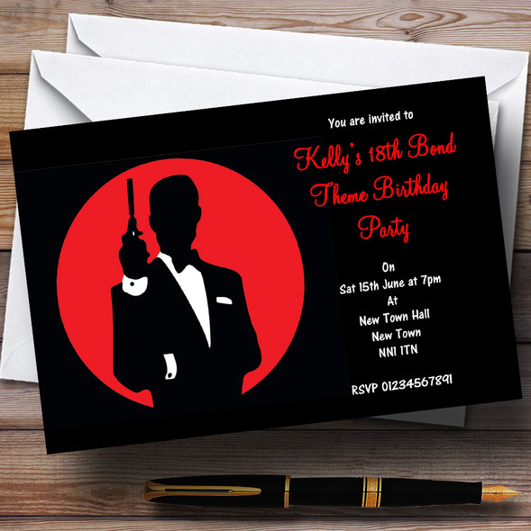 James Bond Special Agent Personalised Party Invitations