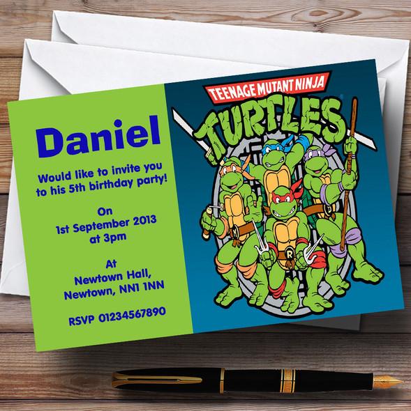 Teenage Mutant Ninja Turtles Personalised Children's Birthday Party Invitations