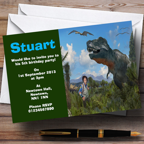 Andy's Dinosaur Adventures Personalised Children's Birthday Party Invitations