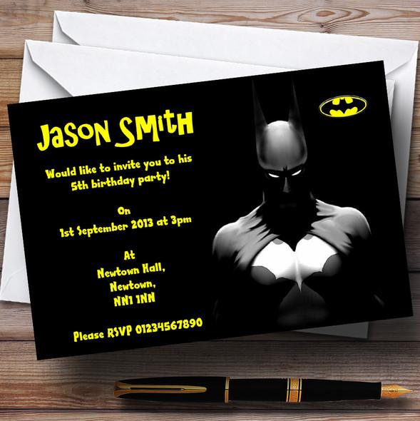 Batman Personalised Children's Party Invitations