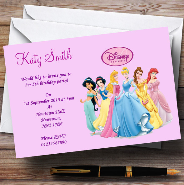 Princess Personalised Children's Party Invitations