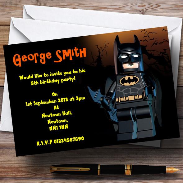 Lego Batman Personalised Children's Party Invitations