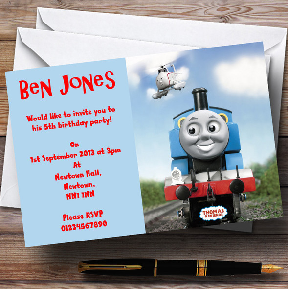 Thomas The Tank Engine Personalised Children's Party Invitations