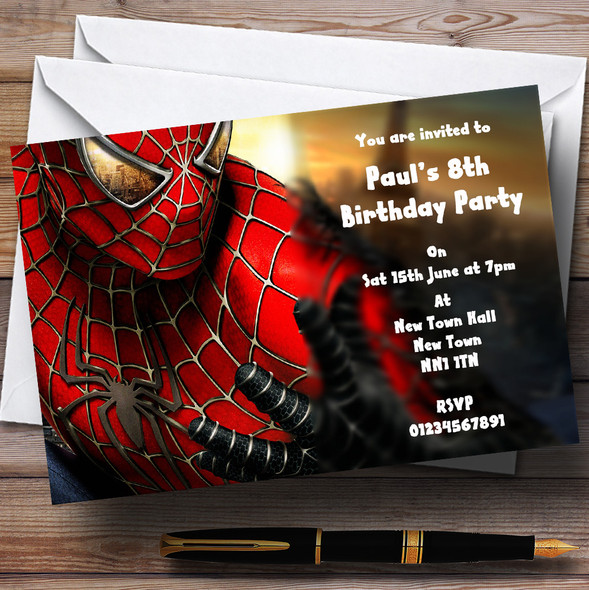 Spiderman Personalised Children's Party Invitations