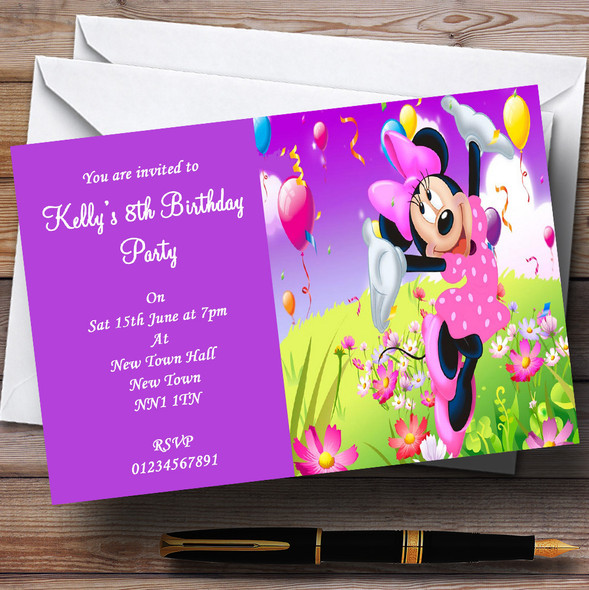 Minnie Mouse Personalised Children's Party Invitations