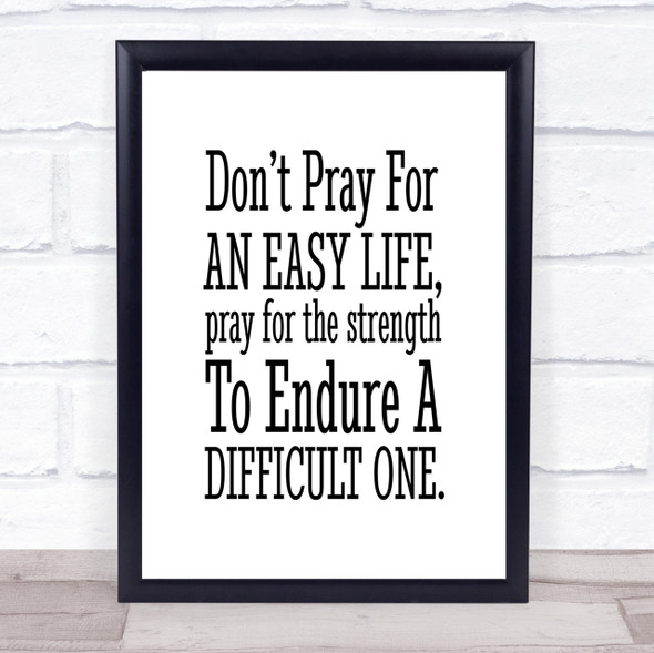 Don't Pray Quote Print Poster Typography Word Art Picture