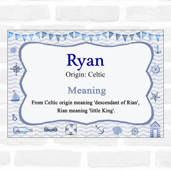 Ryan Name Meaning Nautical Certificate