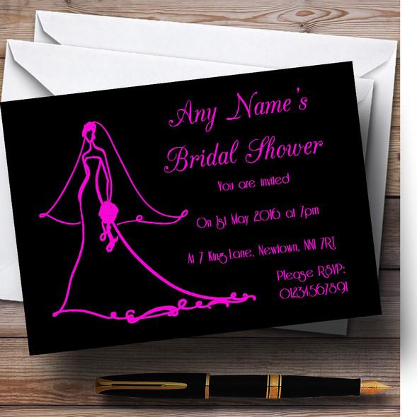 Pink Elegant Personalised Bridal Shower Party Invitations
