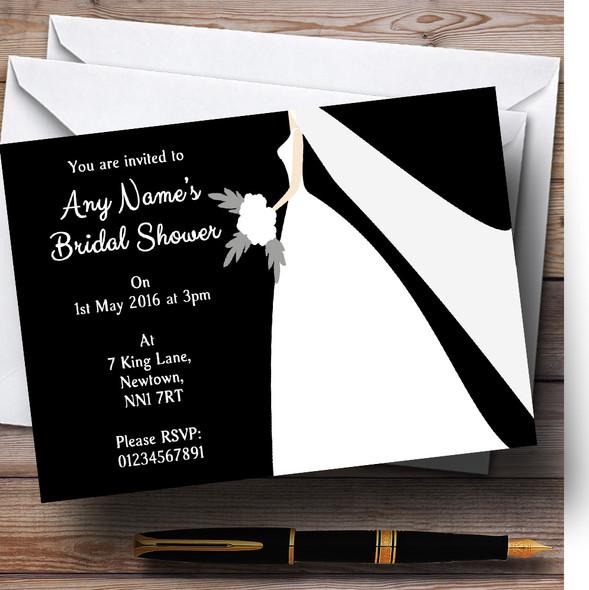 Black Bride Personalised Bridal Shower Party Invitations