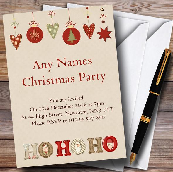 Ho Ho Ho Personalised Christmas Party Invitations