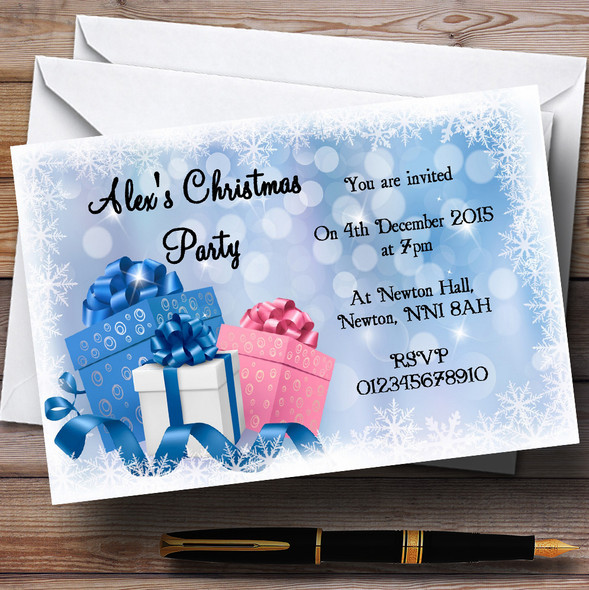 Presents Personalised Christmas Party Invitations