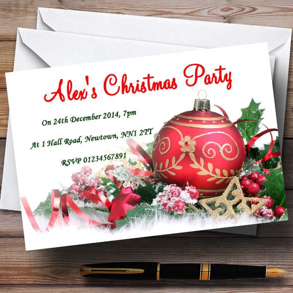 Xmas Decs Personalised Christmas Party Invitations