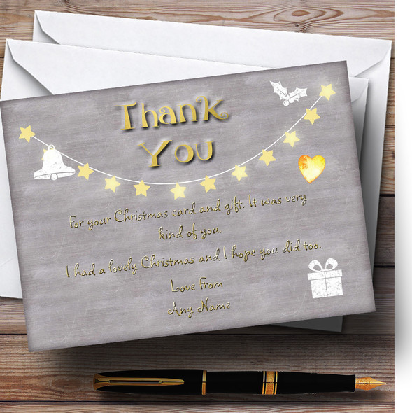 Twinkly Lights Personalised Christmas Thank You Cards