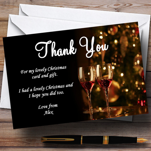 Mulled Wine Personalised Christmas Party Thank You Cards