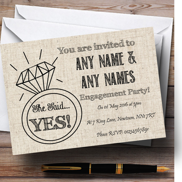 Cotton Chic Personalised Engagement Party Invitations