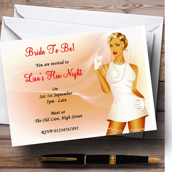 Sexy Bride To Be Personalised Hen Do Night Party Invitations