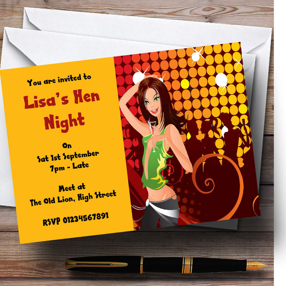 Girls Night Out Personalised Hen Do Night Party Invitations