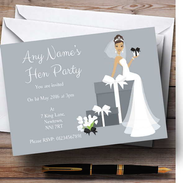 Bride And Gifts Personalised Hen Party Invitations