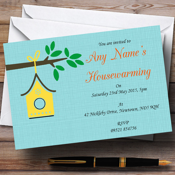 Bird House Housewarming Party Personalised Invitations