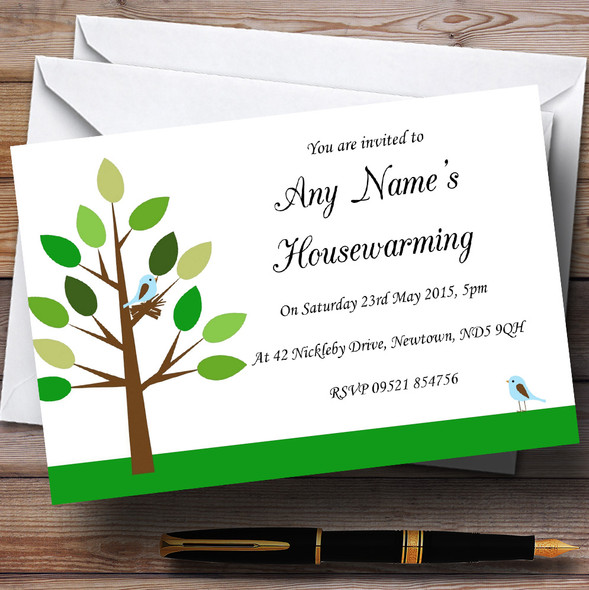 Birds Nest Housewarming Party Personalised Invitations