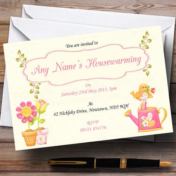 Cute Bird Housewarming Party Personalised Invitations