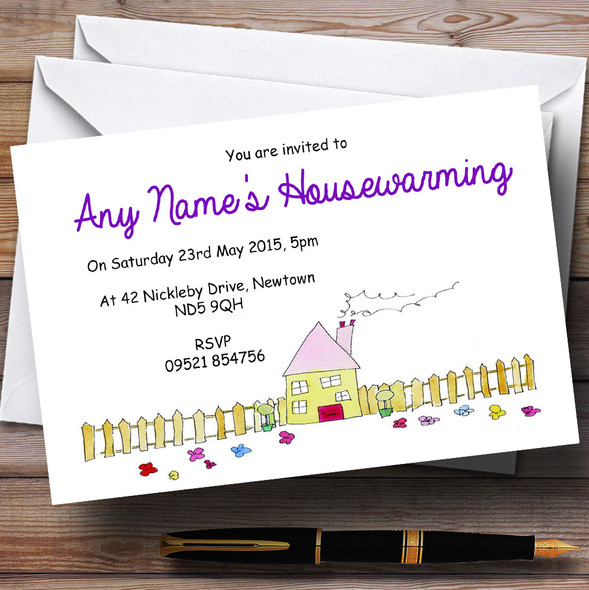 Doodles New Home Housewarming Party Personalised Invitations