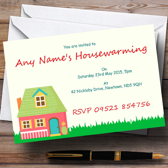 Happy Home Housewarming Party Personalised Invitations