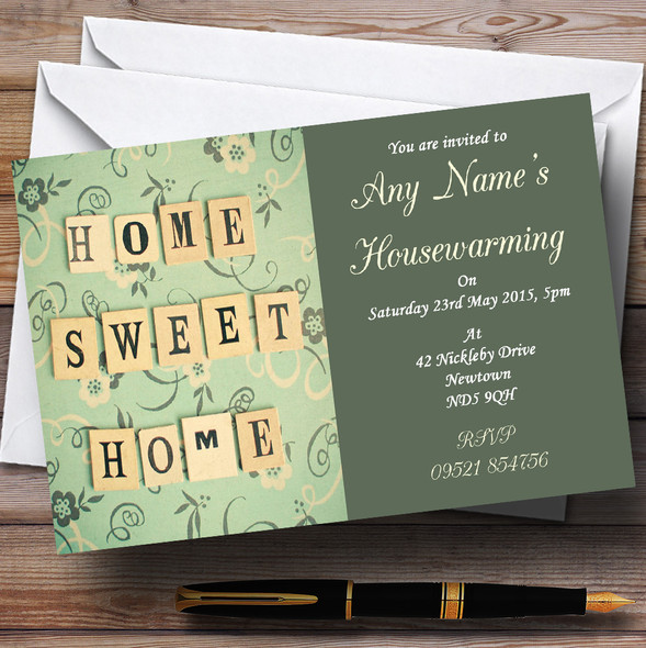 Home Sweet Home Housewarming Party Personalised Invitations