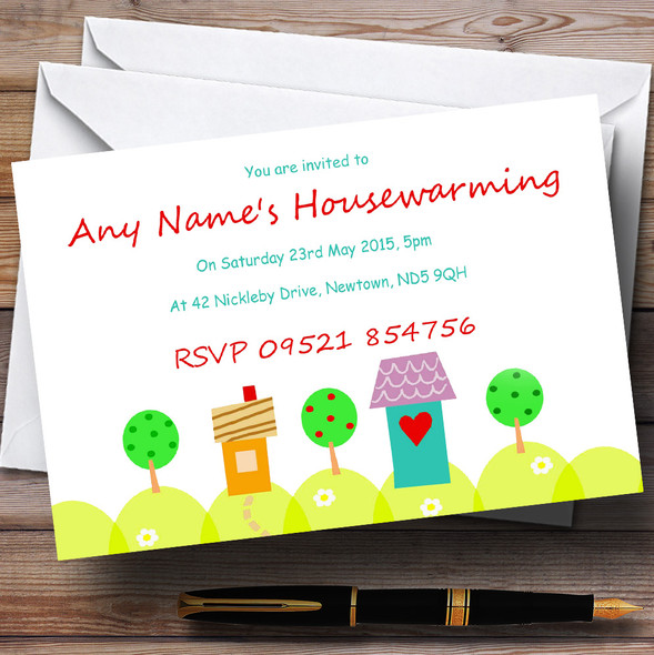 Sunny New Home Housewarming Party Personalised Invitations