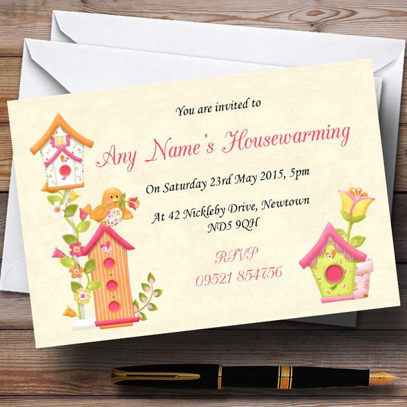 Sweet Birdie Housewarming Party Personalised Invitations