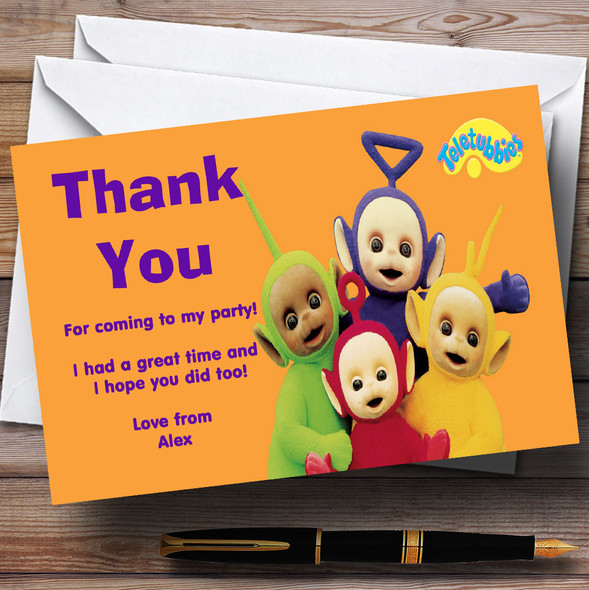 Teletubbies Personalised Children's Birthday Party Thank You Cards