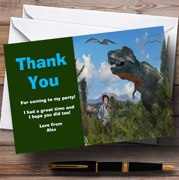 Andy's Dinosaur Adventures Personalised Children's Birthday Party Thank You Cards
