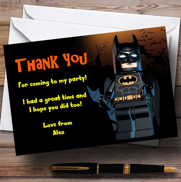 Lego Batman Personalised Children's Party Thank You Cards
