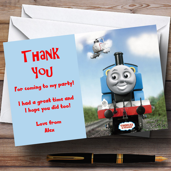 Thomas e Tank Engine Personalised Children's Party Thank You Cards