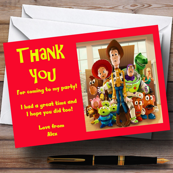 Toy Story Personalised Children's Party Thank You Cards